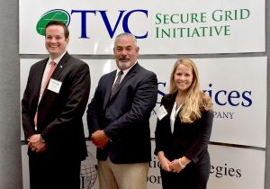 Mr. Bobby Beaty, PSI's CEO, Mr. Alden Sanborn, PSI Director of Business Development, and Ms. Stephanie Long Neu, PSI Proposal Manager attended the event to support the TVC Secure Grid Initiative.